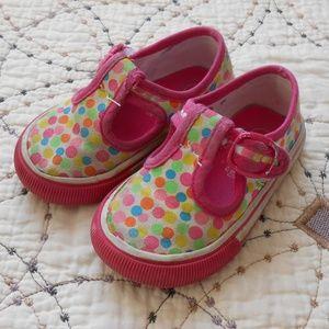 5/$10 Osh Kosh Polka Dot Velcro Shoes 5